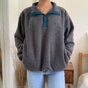 Vintage LL Bean Gray Fleece Pullover Sweatshirt